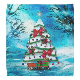 The Tree Christmas Folk Art Bandanna
