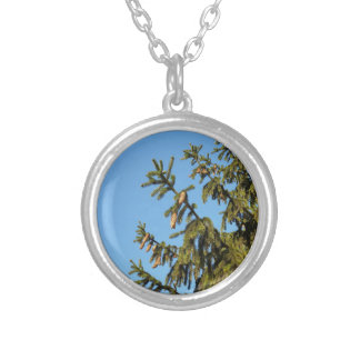 The Tree for Christmas Silver Plated Necklace