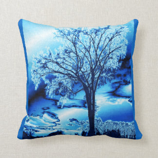 Ice Blue Throw Pillows, Ice Blue Pillow Designs