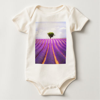 The tree in the lavender baby bodysuit