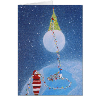 The Tree Lighting Greeting Card by Rino Li Causi