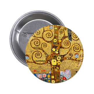 """The Tree of Life"" and Gustav Klimt 2 Inch Round Button"