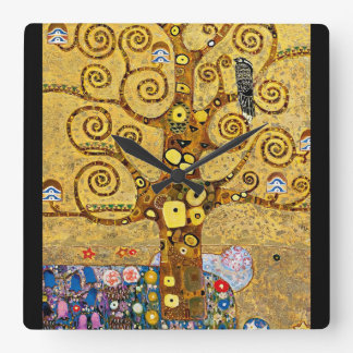 """The Tree of Life"" and Gustav Klimt Wall Clock"