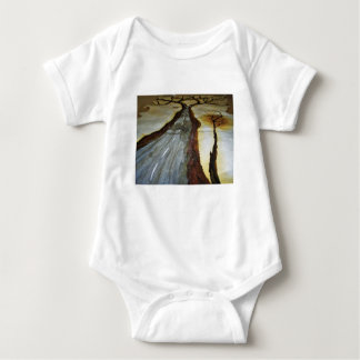 The Tree of Life with the Road that Forks3-Down th Baby Bodysuit