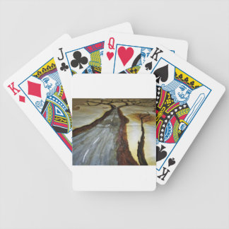 The Tree of Life with the Road that Forks3-Down th Bicycle Playing Cards