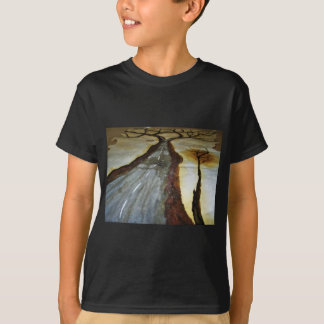 The Tree of Life with the Road that Forks3-Down th T-Shirt