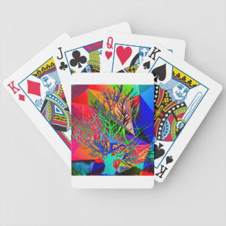 The tree of love makes our rainbow bicycle playing cards