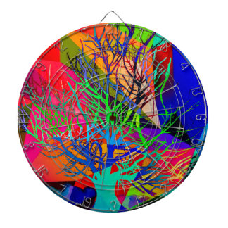 The tree of love makes our rainbow dartboard