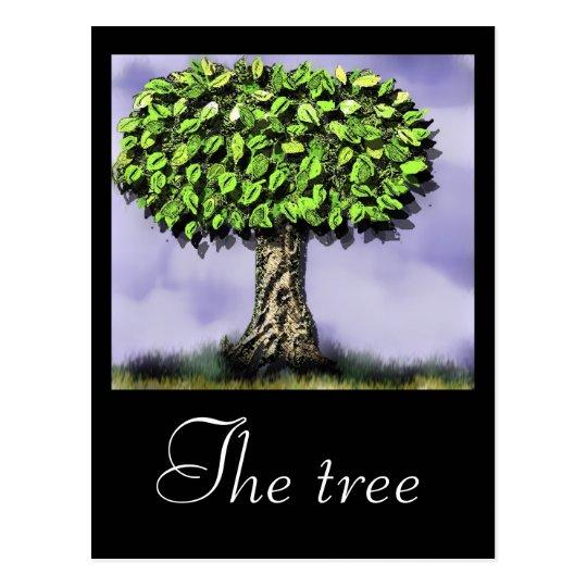 The tree postcard