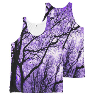 The Trees Know (purple & black) All-Over-Print Tank Top