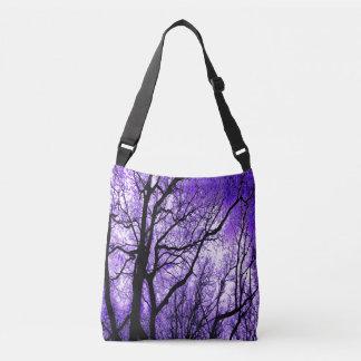The Trees Know (purple & black) Crossbody Bag