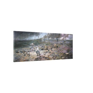The Trench on Hill 468 - Wrapped Canvas
