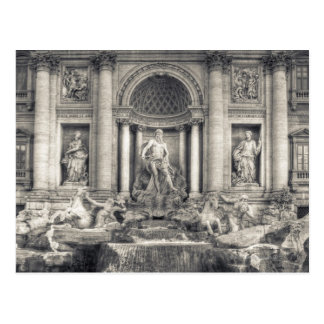 The Trevi Fountain (Italian: Fontana di Trevi) 4 Postcard