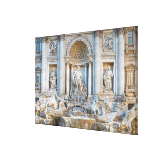 The Trevi Fountain (Italian: Fontana di Trevi) 5 Stretched Canvas Print
