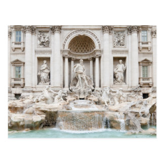 The Trevi Fountain (Italian: Fontana di Trevi) Postcard