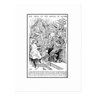 The Trial of the Knave of Hearts Postcard
