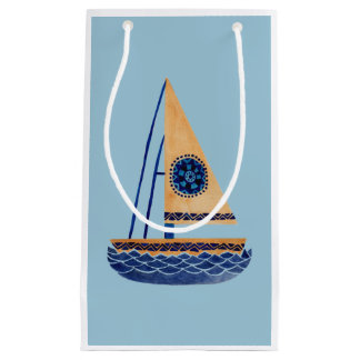 The Tribal Sailboat Small Gift Bag