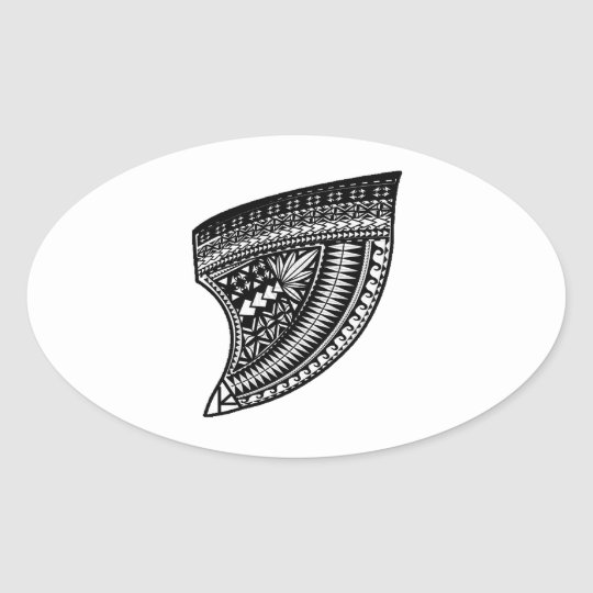 THE TRIBAL TOOTH OVAL STICKER