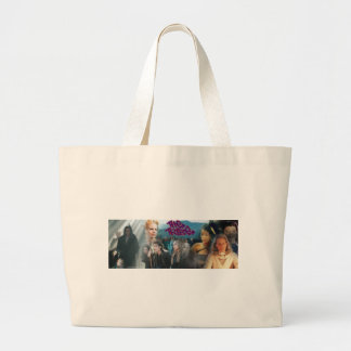 The Tribe Series 3 Collage Large Tote Bag