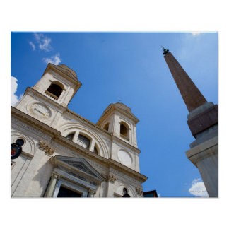 The Trinita dei Monti church in Rome, Italy is Poster