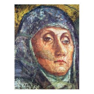 The Trinity Detail by Masaccio Postcard