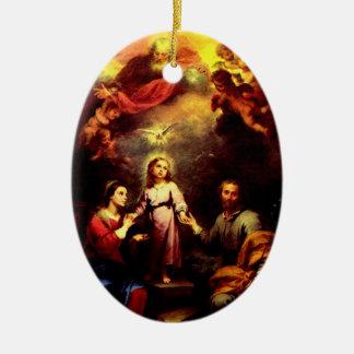 The Trinity, Mary, & Joseph Ornament