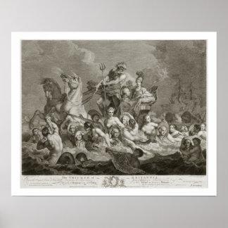 The Triumph of Britannia, c.1765 (engraving) Poster