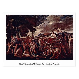 The Triumph Of Flora, By Nicolas Poussin Postcard