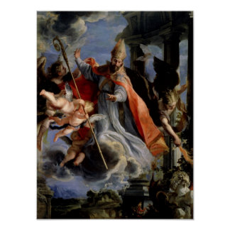 The Triumph of St. Augustine  1664 Poster