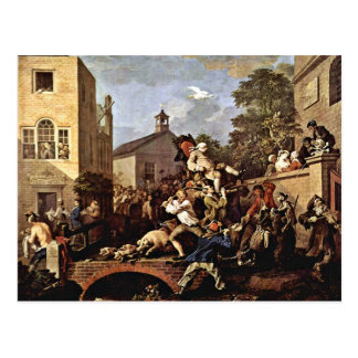 The Triumph Of The Members' By Hogarth William Postcard