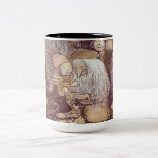 The Trolls and the Youngest Tomte Two-Tone Coffee Mug