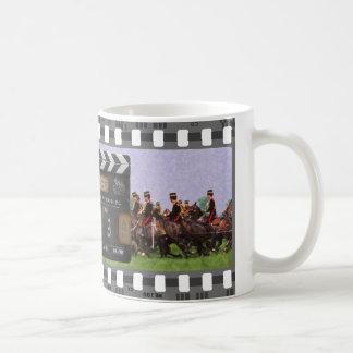 The Troop filmstrip mug with vintage clapperboard