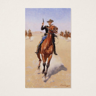 The Trooper by Frederic Remington Business Card