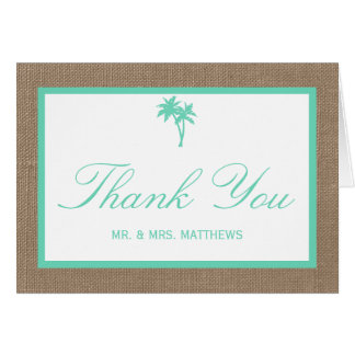 The Tropical Palm Tree Beach Wedding Collection Card