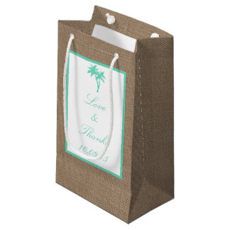The Tropical Palm Tree Beach Wedding Collection Small Gift Bag