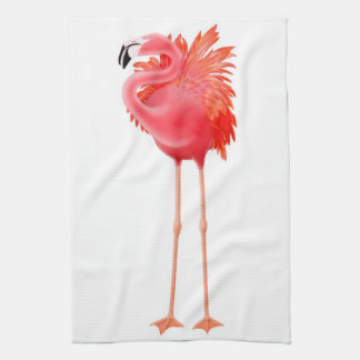 The Tropical Pink Flamingo Kitchen Towel