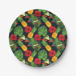 The Tropical Red Eyed Tree Frog Paper Plate