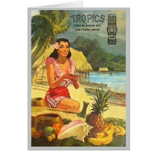 The Tropics classic Tiki menu Card