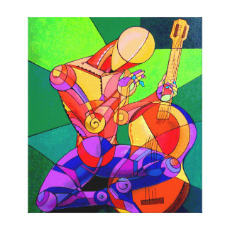 The troubadour of the moon canvas print