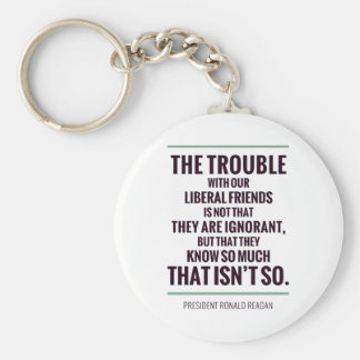 The Trouble With Liberals Basic Round Button Keychain