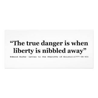 The True Danger is When Liberty is Nibbled Away Invitations