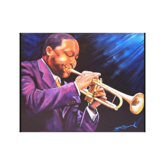 """The Trumpet Player 11"""" x 14"""" Canvas Gallery Print"""