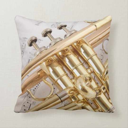The Trumpet Throw Pillow