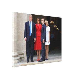 The Trumps & Macrons Canvas Print