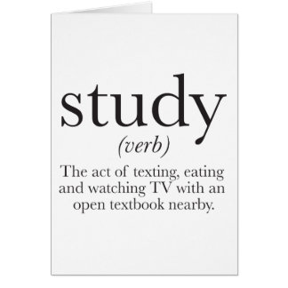 The truth about studying card