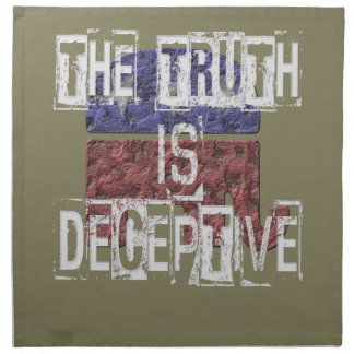The Truth is Deceptive 1 Cloth Napkins