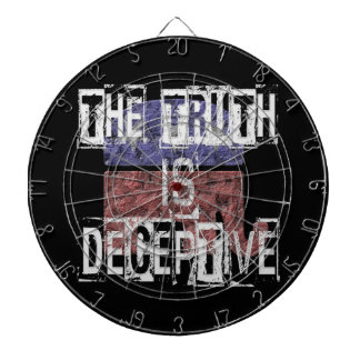 The Truth is Deceptive 1 Dartboard
