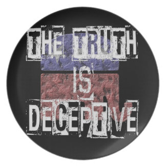 The Truth is Deceptive 1 Plate