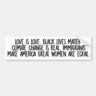 THE TRUTH - Love is Love - Black Lives Matter - Cl Bumper Sticker