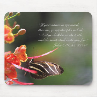 The Truth Shall Set you Free Mousepad (Poinciana)